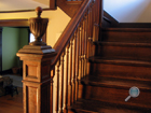 Antique staircase in need of restoration